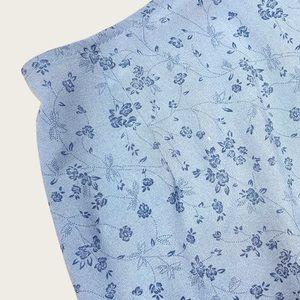 Vintage Garage Y2K Blue Ditsy Floral Mini Skirt S